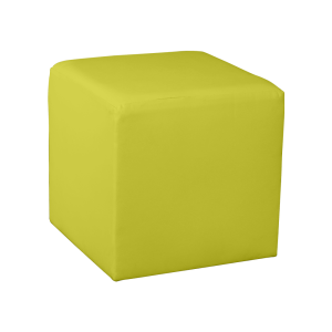 Square Cube Ottoman - Light Yellow