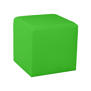 Square Cube Ottoman - Apple Green
