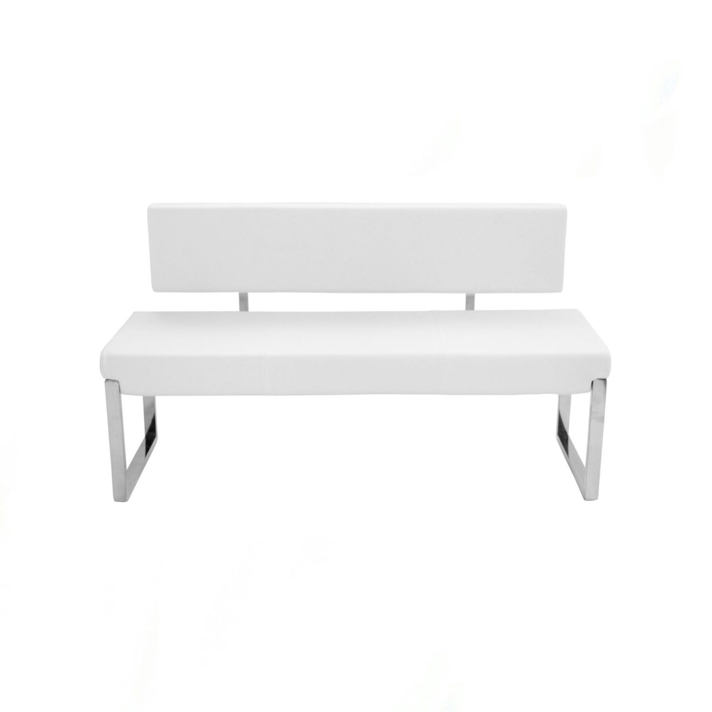 Pleasing Nico Bench W Back White Beatyapartments Chair Design Images Beatyapartmentscom