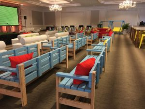 comfortable event seating furniture rental