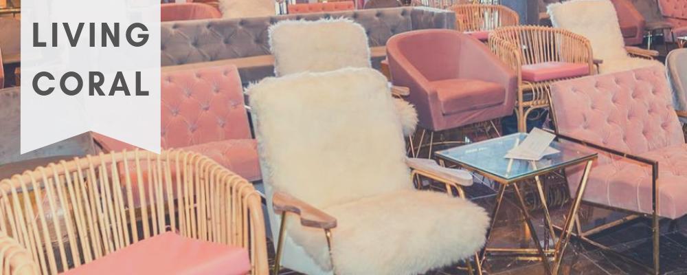 living coral velvet chair rent